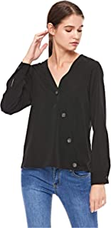 Vero Moda Wrap Tops For Women, M, Black