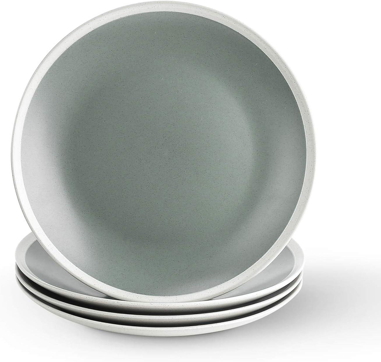 Stone lain Serenity Stoneware Dish Max 50% OFF Set Plates Dinner Green a 4 Nippon regular agency