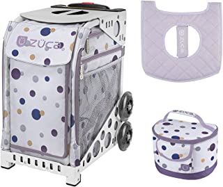 ZUCA Sport Bag - Confetti with Gift Lunchbox and Seat Cover (White Frame)