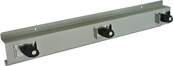 Bradley 9953 000000 Stainless Steel 3 Hooks Mop And Broom Holder 24 Length X 4 Height