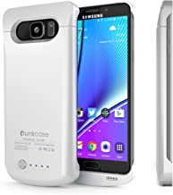 Galaxy Note 5 Battery Case, PunkJuice 4200mAH Fast Charging Power Bank W/Screen Protector   Integrated USB Port   IntelSwitch   Slim, Secure and Reliable   Designed for Samsung Galaxy Note 5 [White]