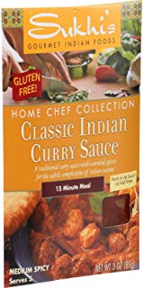 Sukhi's Gourmet Indian Food Classic Curry Sauce - 3 oz - Case of 6