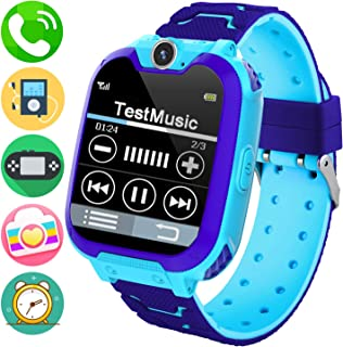 Kids Music Smart Watch Phone for Student, Smartwatch [SD Card Included] 1.54 inch Touch Screen Watches 2 way Calls with Alarm Clock Camera Game Calculator for 3-12 Years Old Boys Girls Birthday Gift