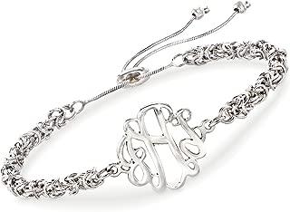 Ross-Simons Sterling Silver Byzantine Monogram Bolo Bracelet