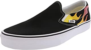 Vans Old Skool Skate Shoe (11.5 Women / 10 Men M US, (Flame) Black/Black/True White 7206)