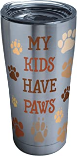 Tervis My Kids Have Paws Stainless Steel Tumbler with Clear and Black Hammer Lid 20oz, Silver