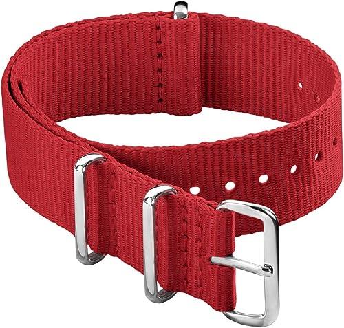 Archer Watch Straps - Bracelet de Montre Classique en Nylon de Style NATO | Choix De Couleur et de Taille (18mm,20mm,...