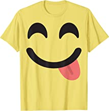 Tongue Face Emoji Easy Lazy Group Halloween Costume T-Shirt