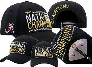 Elite Fan Shop Alabama Crimson Tide National Champs Hat Black Phenom (2017 National Championship)