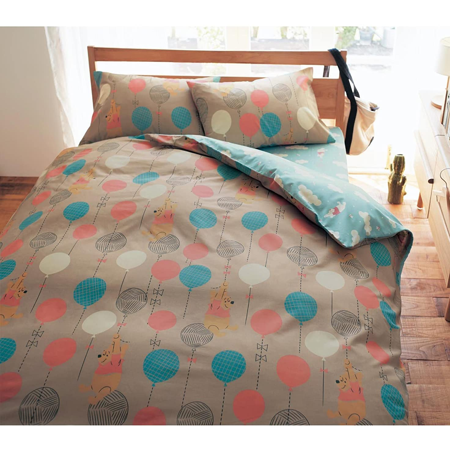 省恵み膨張する[ベルメゾン] ディズニー 寝具カバーセット 布団カバー 3点セット くまのプーさん 和式シングル
