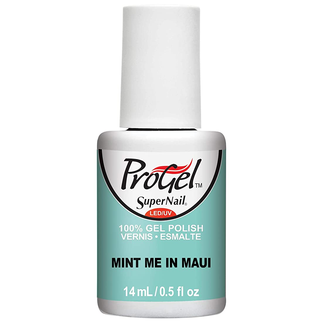 優先権我慢する開発するSuperNail ProGel Gel Polish - Mint Me in Maui - 0.5oz / 14ml