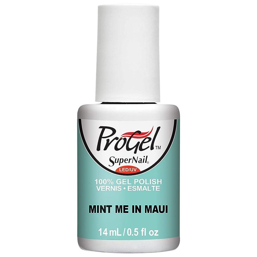 脱獄権利を与える群衆SuperNail ProGel Gel Polish - Mint Me in Maui - 0.5oz / 14ml