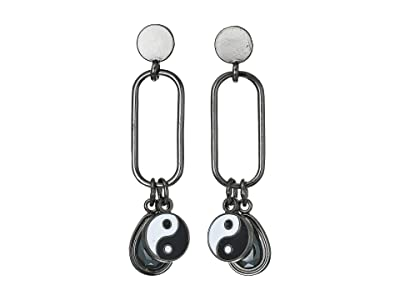 Alex and Ani Balance Drop Earrings (Midnight Silver) Earring