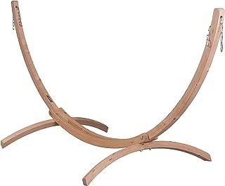 LA SIESTA Canoa Caramel - FSC Certified Spruce Stand for Double Hammocks