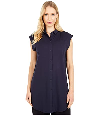 Eileen Fisher Classic Collar Tunic (Ink) Women