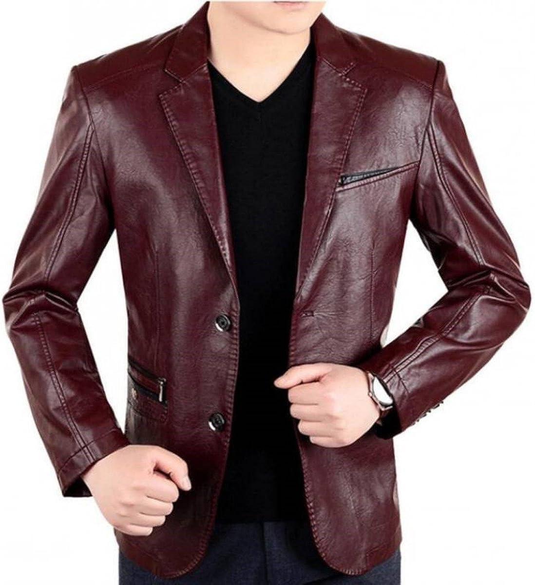 brandMe Men's Leather Blazer Soft Genuine Max 58% OFF Excellent Coat Lambskin