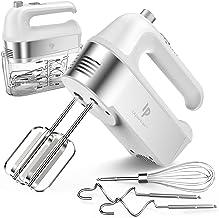 Handmixer Elektrisch, 450W-Küchenmixer mit Scale Cup-Aufbewahrungskoffer, Turbo-Boost / Selbststeuerungsgeschwindigkeit  5-Gang  Auswurftaste  5 Edelstahlzubehör, für einfaches Schlagen von Teig