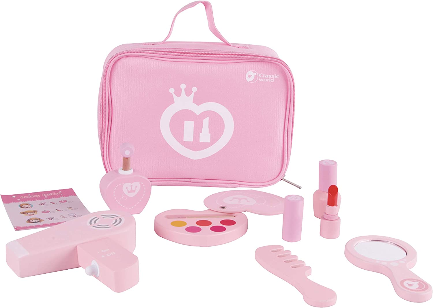 Classic World Make-up Set Wooden Cosmetics Beauty Toy for Kids Toddler Girls Pretend Play: Toys & Games