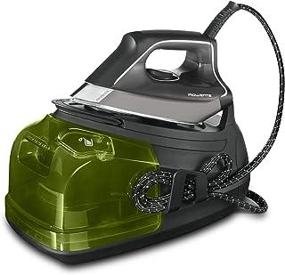 Rowenta Perfect Steam Pro DG8626F0 - Centro de planchado (2400 W, Golpe 450, vapor 120 g/min, suela Microsteam Laser 400, función ECO), color negro (Reacondicionado)