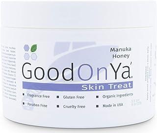 Manuka Honey Face Moisturizer with Coconut Oil, Cocoa Butter, Aloe Vera, Vitamin E and Vitamin C - Anti Aging and Skin Lightening Cream - Pore Minimizer and Whitening MSM Cream (8 oz)