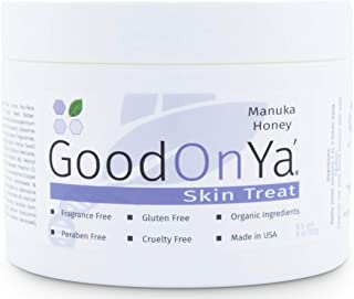 Manuka Honey Face Moisturizer with Coconut Oil, Cocoa Butter, Aloe Vera, Vitamin E and Vitamin C - Anti Aging and Skin Lightening Cream - Pore Minimizer and Whitening MSM Cream - (8 oz)