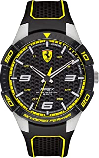 Ferrari Mens Quartz Watch, Analog Display and Silicone Strap 830631