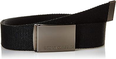 Urban Classics Canvas Belt Cintura con Fibbia Scorrevole in Metallo, Regolabile, 100% Poliestere, Lunghezza 118 cm...