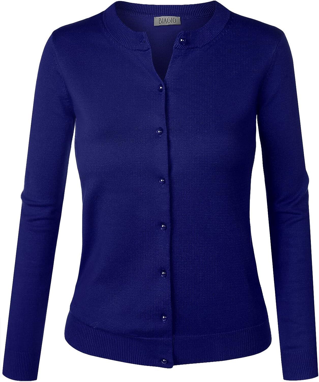 BIADANI Women Button Down Popular Industry No. 1 Long Cardigan Sweat Soft Sleeve V-Neck