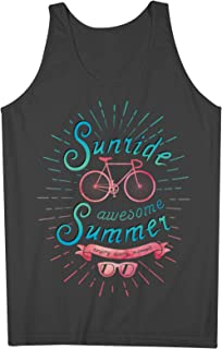 Sunride Awesome Summer Bicycle Bike Inspiration Motivation 男性用 Tank Top Sleeveless Shirt