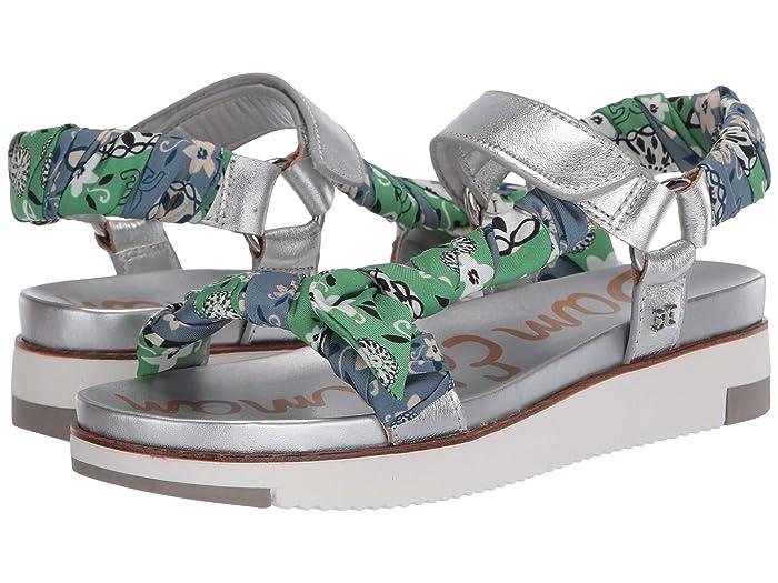 Sam Edelman  Ashie (Soft Silver/Summer Green Multi/Smoke Blue Multi Cyprus Metallic) Womens Shoes