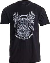 Ann Arbor T-shirt Co. Motivo Vikingo para Amantes de la mitología nórdica - Odín en Valhalla - Camiseta para Hombre -