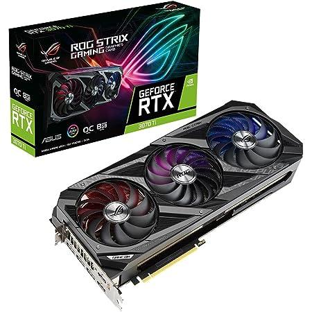 ASUS ROG Strix NVIDIA GeForce RTX 3070 Ti 搭載ビデオカード OC / PCIe 4.0 / 8GB GDDR6X / HDMI 2.1 / DisplayPort 1.4a / Axial-techファン設計/2.9-slot/Super Alloy Power II/GPU Tweak II/ROG-STRIX-RTX3070TI-O8G-GAMING
