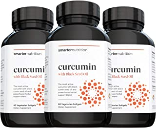 Smarter Nutrition Curcumin - Potency and Absorption in a SoftGel | The Most Active Form of Curcuminoid | 95% Tetra-Hydro C...
