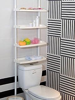 Keraiz F2-E9PZ-UOM1 - Estantería de 4 Niveles para Cocina, baño, Ducha, Altura Ajustable (St-59), Color Blanco