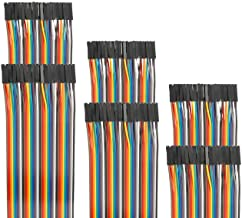 EDGELEC 120pcs 40cm Dupont Wire Female to Female Breadboard Jumper Wires 3.9 inch 1pin-1pin 2.54mm Connector Multicolored Ribbon Cables DIY Wires Length 10 15 20 30 40 50 100cm Optional