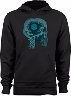 Guerrilla Tees Dungeons and Dragons on The Mind Sweatshirt Funny DND Brain Graphic dice RPG Hoody