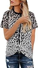 Women's Summer Casual Top, Sharemen O Collar Leopard Print Short-Sleeved Shirt Shirt Top