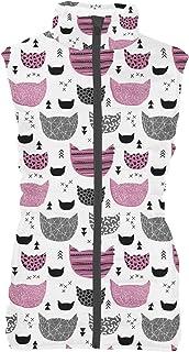 Rainbow Rules Inky Texture Cats Mens Puffer Vest Bodywarmer Gilet