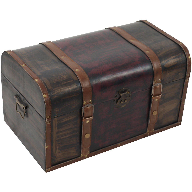 Baúl Soft Padded con correa 48 x 28 x 26 cm caja de madera Cofre del Tesoro baúl Madera Cofre del Tesoro Caja para guardar aufbewahrungstruhe Almacenamiento: Amazon.es: Bricolaje y herramientas