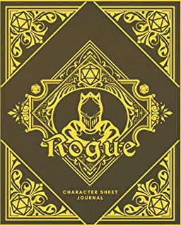 Rogue Character Sheet Journal: DnD Notebook With 50 Character Pages and 100 Mixed Pages (Lined, Graph, Hex & Blank) For Ro...