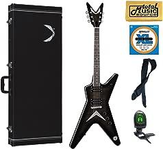 Dean ML 79 TBK Solid-Body Electric Guitar, Trans Black, Case Bundle