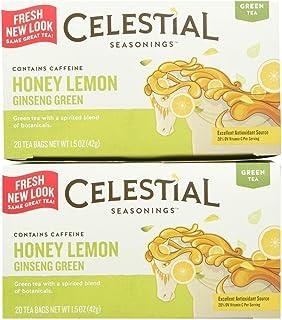 Celestial Seasonings Honey Lemon Ginseng Green Tea Bags, 20 ct, 2 pk