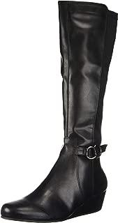 Women's Tip Wedge Dress Knee High Boot Equestrian