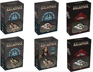 Battlestar Galactica Starship Battles: Raptor (Assault, Boomers, SAR) and Cylon (Captured, Veteran, Combat) Spaceship Pack Set