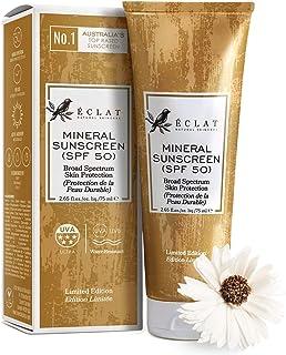 Protección Solar Mineral SPF 50 Eclat – Loción Solar Natural SPF 50 con Protección Solar Antiedad Antioxidantes Fórmula Ca...