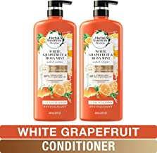 Herbal Essences, Volumizing Conditioner With Natural Source Ingredients, For Fine Hair, Color Safe, BioRenew White Grapefruit & Mosa Mint, 20 fl oz, Twin Pack