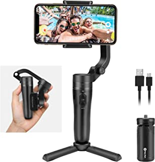 Feiyu VLOG pocket Handheld Gimbal Stabilizer Foldable Pocket-Size 3-Axis with One Key Orientation Toggle for iPhone 11/ 11 Pro/ 11 pro Max and Android Smartphones