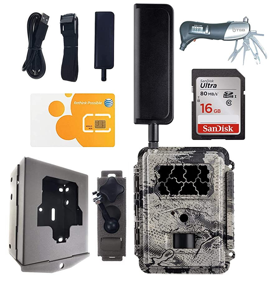 Spartan HD GoCam AT&T 4G LTE + 16GB SD Card + Security Box + Swivel Bracket + TSB Muti-Tool Bundle Deal