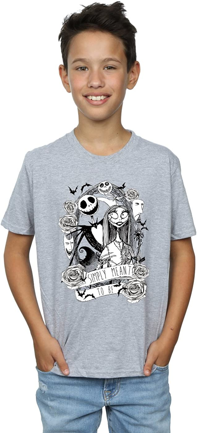 Disney Boys Nightmare Before Christmas Simply Meant to Be T-Shirt 7-8 Years Sport Grey