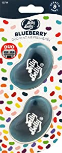 Jelly Belly 15714A Gel Mini Vent Air Freshener Duo Pack-Blueberry